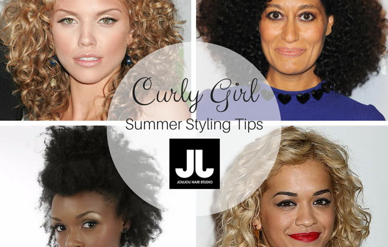 curly hair types; Rita ora, Janelle Monae, Tracee Ellis Ross, AnnaLynne McCord JouJou Hair Studio Hair Styling Tips